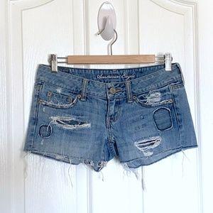 American Eagle Cutoff Distressed Denim Shorts